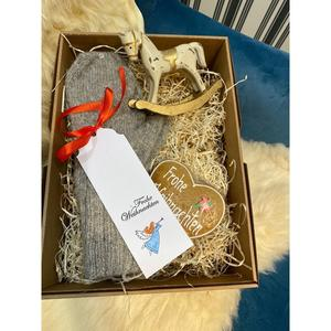 Geschenkpaket Baby Alpaka-Damenhandschuhe