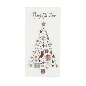 Serviette Merry Christmas m/Tannenbaum