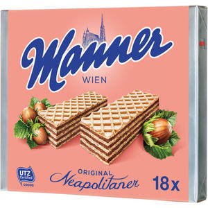 Manner Schnitten Original Neapolitaner UTZ, 18 Packungen