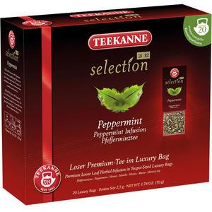 Teekanne Selection Luxury Bag Pefferminze (Kannenportionsbeutel), Kräutertee, Teebeutel im Kuvert