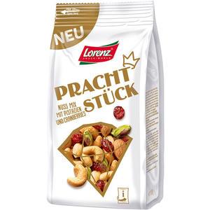 Lorenz Nuss-Frucht-Mix Prachtstück ungesalzen, mit Pistazien, Erdnüssen, Cashews, blanchierten Mandeln und Cranberries