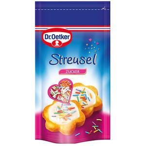 Dr. Oetker Streusel bunt, mit Fruchtgeschmack