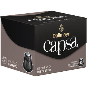 Dallmayr Capsa Espresso Ristretto 10, Nespresso-kompatibel, 10 Kaffeekapseln