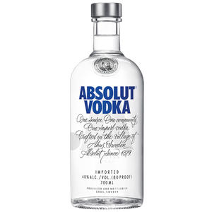 Absolut Vodka, 40 % Vol.Alk., Schweden