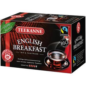 Teekanne Fairtrade English Breakfast, Bio-Schwarztee-Mischung, Teebeutel im Kuvert
