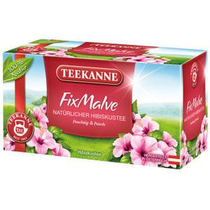 Teekanne FixMalve, natürlicher Hibiskustee, Teebeutel im Kuvert