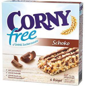 Corny free Schoko Müsliriegel ohne Zuckerzusatz, 6 Stück