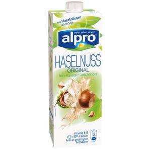 Alpro Haselnuss Drink Original, aus Haselnüssen ohne Soja