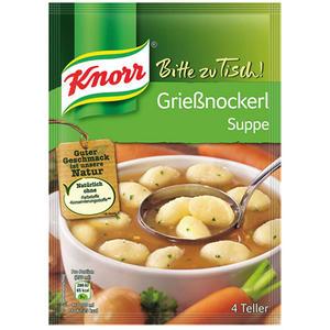Knorr Bitte zu Tisch! Grießnockerlsuppe, 4 Teller