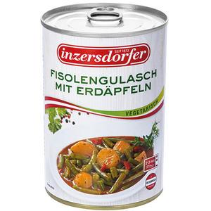 Inzersdorfer Fisolengulasch mit Erdäpfeln, vegetarisch