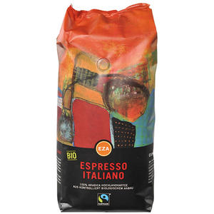 Fairtrade EZA Espresso Italiano, Bio-Kaffee, Ganze Bohne