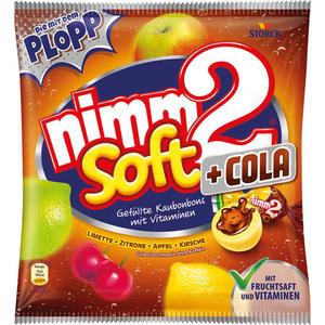 nimm2 Soft +Cola, gefüllte Kaubonbons mit Vitaminen