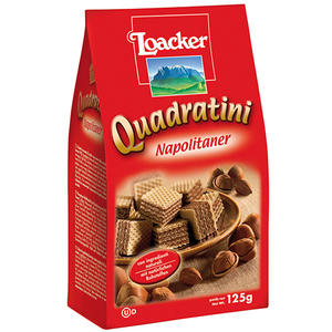 Loacker Quadratini Napolitaner, Waffelwürfel