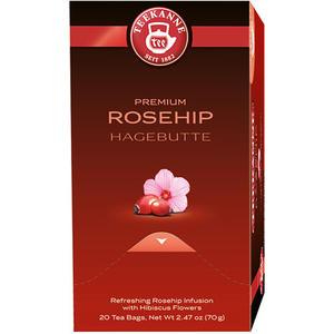 Teekanne Premium Hagebutte mit Hibiskus, Früchtetee, Teebeutel im Kuvert
