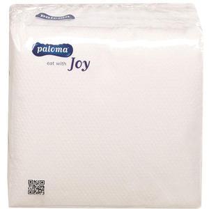 "Paloma Servietten ""Joy"" weiss, 1-lagig, 24 x 24 cm"