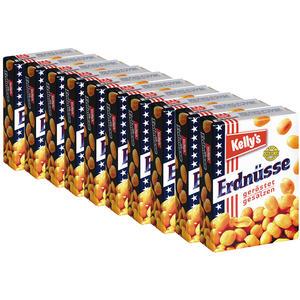 Kelly's Erdnüsse geröstet/gesalzen, 10 Packungen à 40 g