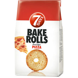 7 Days Bake Rolls Pizza, Brotchips
