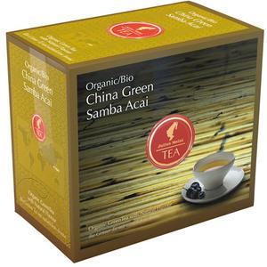 Julius Meinl Bio China Green Samba Acai Big Bag (1 Beutel für ca. 1 lt. Wasser), Grüner Tee, Teebeutel im Kuvert