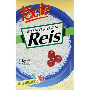 Facile Rundkorn-Reis aus Italien