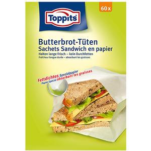 Toppits Butterbrot-Tüten, Papier, 13 x 2,2 cm