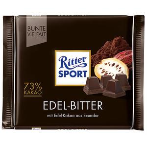 Ritter Sport Bunte Vielfalt Edel-Bitter, 73 % Kakao