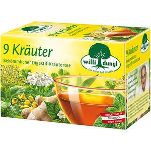 Willi Dungl 9 Kräuter, bekömmlicher Digestif-Kräutertee, Teebeutel im Kuvert