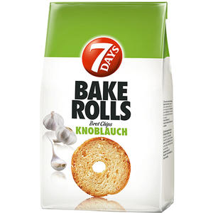 7 Days Bake Rolls Knoblauch, Brotchips