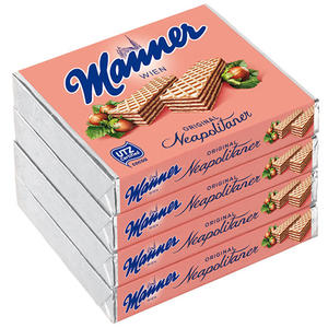 Manner Schnitten Original Neapolitaner UTZ, 4er Packung