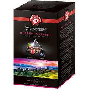 Teekanne foursenses Beeren-Auslese, Früchtetee, Pyramidenbeutel