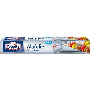 Toppits Alufolie Extra reißfest, mit Doppel-Kraft-Waben, 29 cm breit