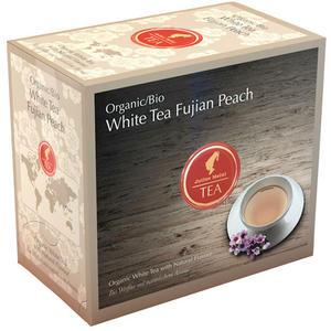 Julius Meinl Bio White Tee Fujian Peach Big Bag (1 Beutel für ca. 1 lt. Wasser), Weißer Tee, Teebeutel im Kuvert