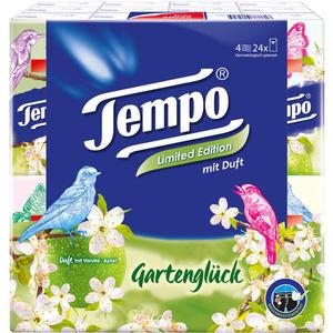 Tempo Duft Icy Breeze, Taschentücher mit Menthol, 4-lagig, 24 x 9 Stück, waschmaschinenfest