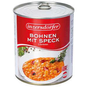 Inzersdorfer Bohnen mit Speck, 2 Portionen