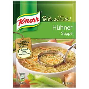 Knorr Bitte zu Tisch! Hühnersuppe mit Eiernudeln, 4 Teller