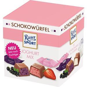 Ritter Sport Schokowürfel Joghurt Mix, 3 Sorten (Joghurt, Erdbeer-Joghurt, Johannisbeer-Joghurt), 22 Stück