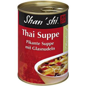 Shan'shi Thai-Suppe, pikante Suppe mit Glasnudeln