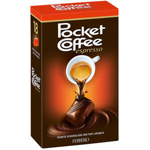 Ferrero Pocket Coffee Espresso, 100 % Arabica, 18 Stück