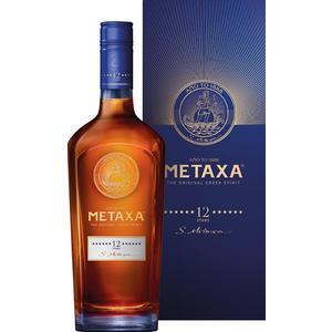 METAXA 12 Stern, 40 % Vol.Alk., im Geschenkkarton