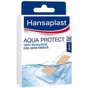 Hansaplast Aqua Protect Pflaster, 100 % wasserdicht, 12 Strips 25 x 72 mm, 8 Strips 39 x 39 mm