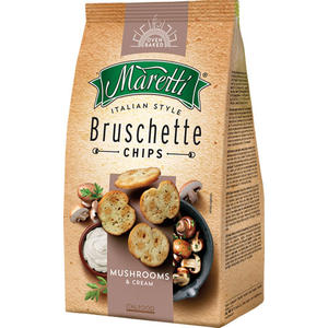 Maretti Bruschette Mushrooms & Cream, Brotchips