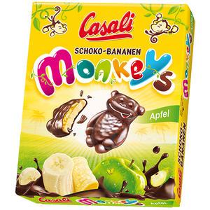 Casali Monkeys, Schoko-Bananen mit Apfel