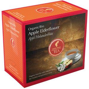 Julius Meinl Bio Apfel Holunderblüte Big Bag (1 Beutel für ca. 1 lt. Wasser), Früchtetee, Teebeutel im Kuvert