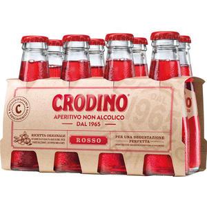 Crodino Rosso Bitteraperitif, alkoholfrei, 8 x 100 ml Flasche
