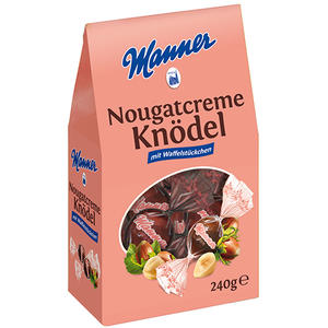Manner Nougatcreme-Knödel