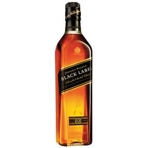 Johnnie Walker Black Label Scotch Whisky 12 Years, 40 % Vol.Alk., Schottland, im Geschenkkarton