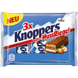 Knoppers NussRiegel, 3er Packung