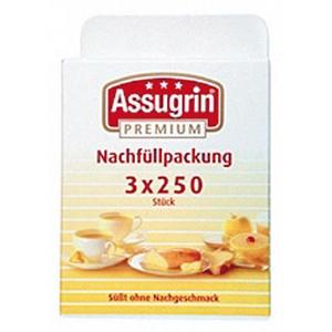 Assugrin Premium Nachfüllpackung für den Süßstoff-Spender, 3 x 250 Stück