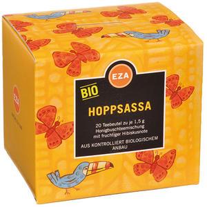 EZA Bio Hoppsassa, Honigbuschtee mit Hibiskus, Teebeutel im Kuvert