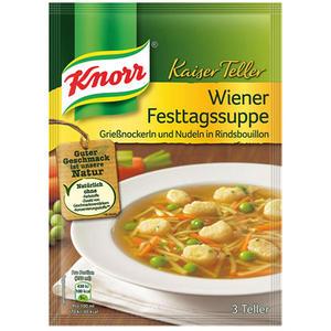 Knorr Kaiser Teller Wiener Festtags-Suppe, 3 Teller