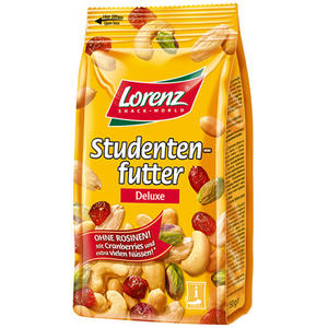 Lorenz Studentenfutter Deluxe, ohne Rosinen
